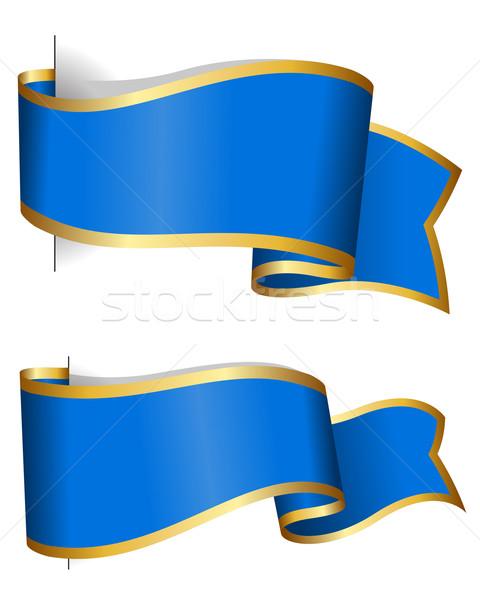 Kék szalag gyűjtemény izolált fehér csoport Stock fotó © zybr78