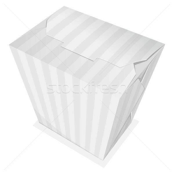 Macarrão caixa listrado longe comida Foto stock © zybr78