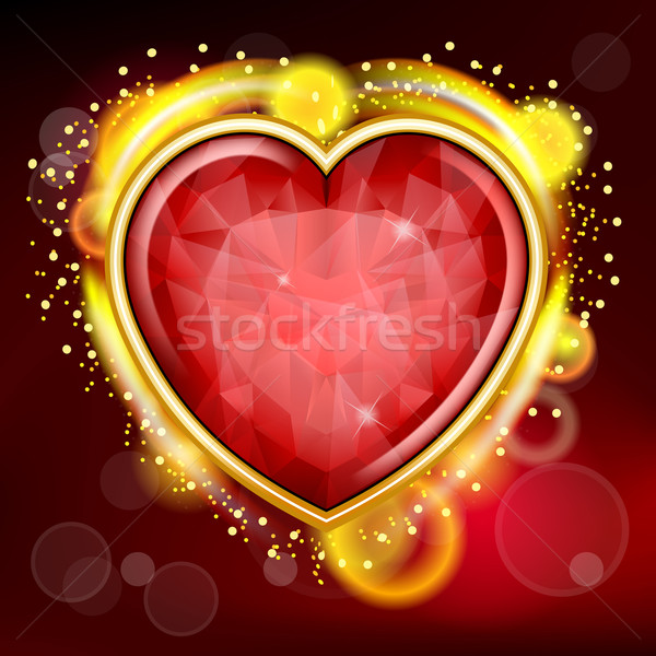 Valentines Day background with heart Stock photo © zybr78