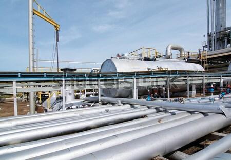 Oszlop kilátás benzin cső olajipar épület Stock fotó © zybr78