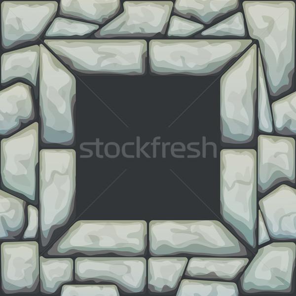 Frame on stone seamless pattern Stock photo © zybr78