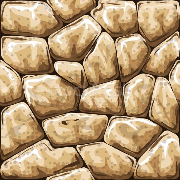 Kő végtelen minta egyszerű textúra fal absztrakt Stock fotó © zybr78