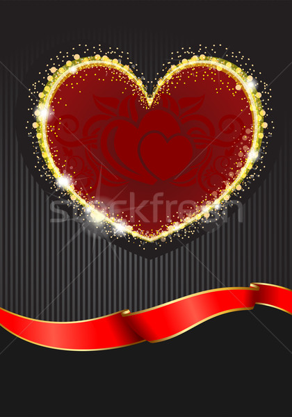 Valentine`s Day background with hearts  Stock photo © zybr78