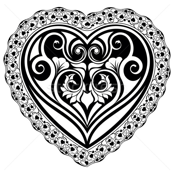 Valentin nap szív absztrakt Valentin nap nap díszítő Stock fotó © zybr78