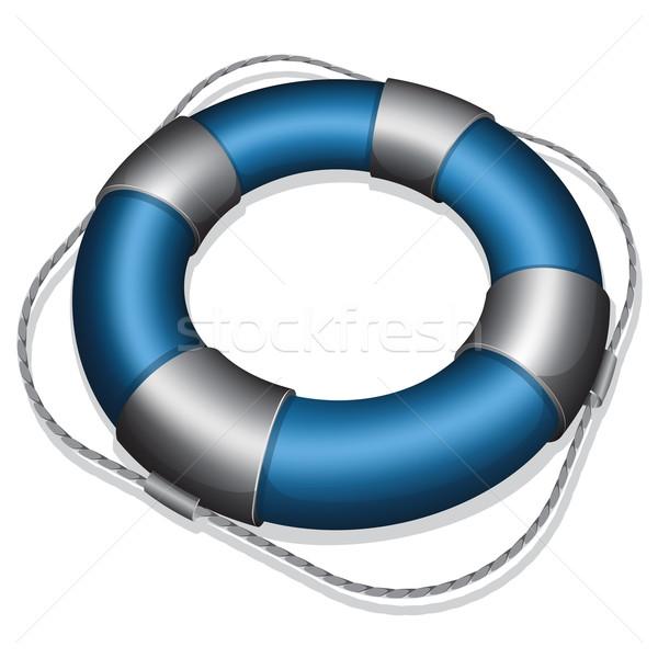 Blauw reddingsboei veiligheid nood bescherming Stockfoto © zybr78