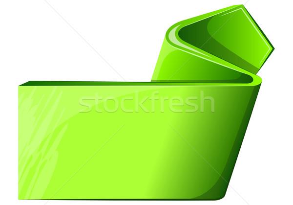 Verde etiqueta seta enrolado fundo arte Foto stock © zybr78