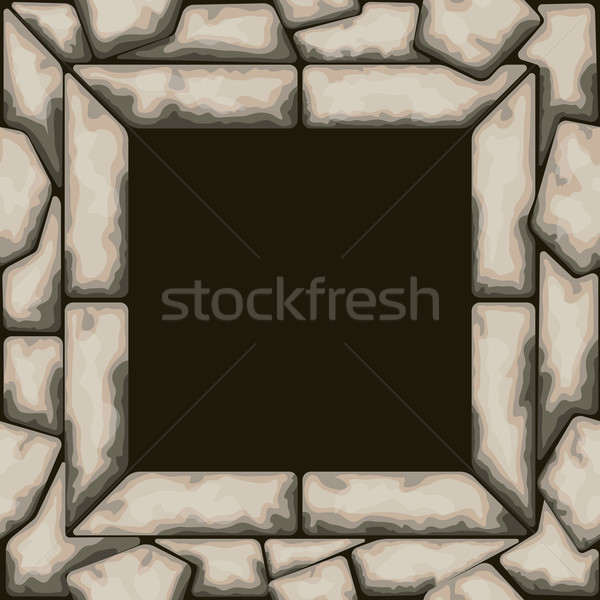 Rectangle frame with stone seamless pattern Stock photo © zybr78