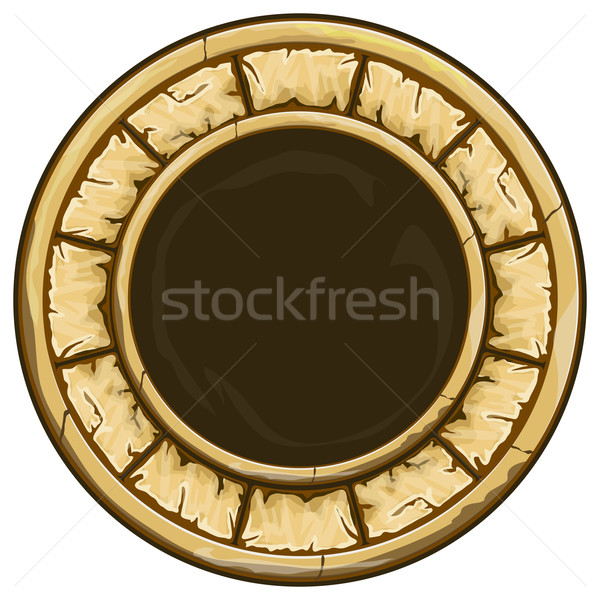 Round stone frame  Stock photo © zybr78