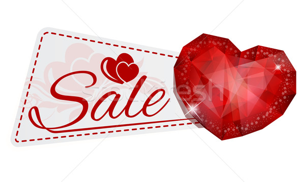 sale sticker with gem heart Stock photo © zybr78