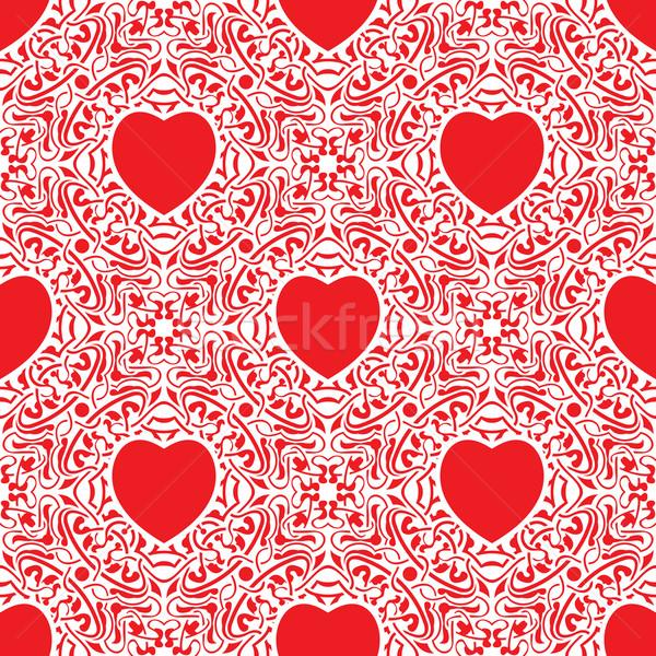 Végtelenített textúra szív Valentin nap nap szeretet Stock fotó © zybr78