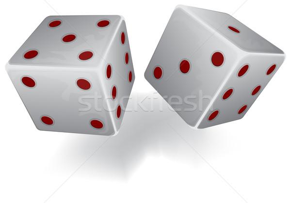 Two white dices Stock photo © zybr78