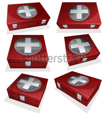 First aid kit box Stock photo © zybr78