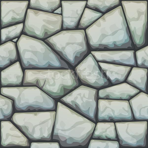 Kő végtelen minta szürke ház természet terv Stock fotó © zybr78