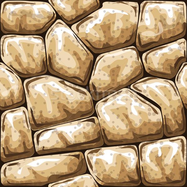 Kő végtelen minta egyszerű absztrakt háttér Stock fotó © zybr78