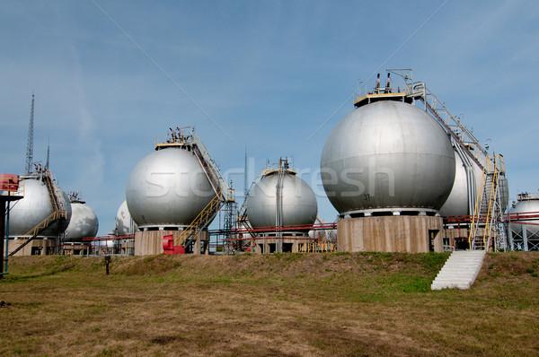 Afgewerkt goederen gas industrie gebouw technologie Stockfoto © zybr78