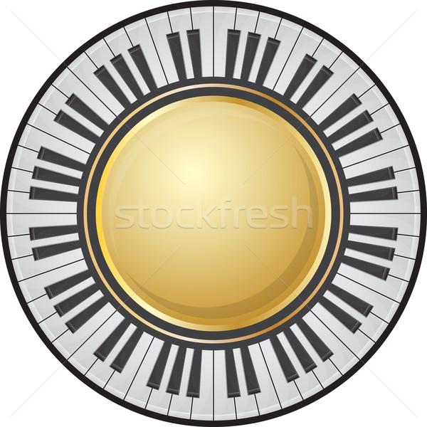 Frame pianotoetsen doorzichtigheid gebruikt illustratie muziek Stockfoto © zybr78