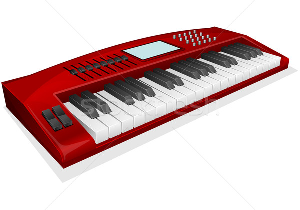 red synthesizer Stock photo © zybr78