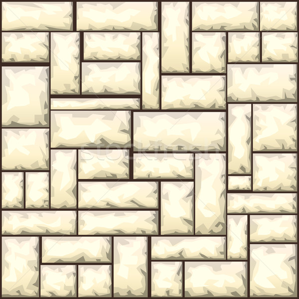 Kő végtelen minta homok építkezés tégla építészet Stock fotó © zybr78