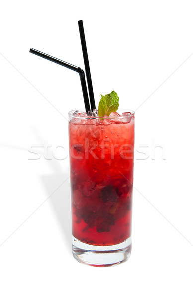 lemonade with fruit in a glass Stock photo © zybr78