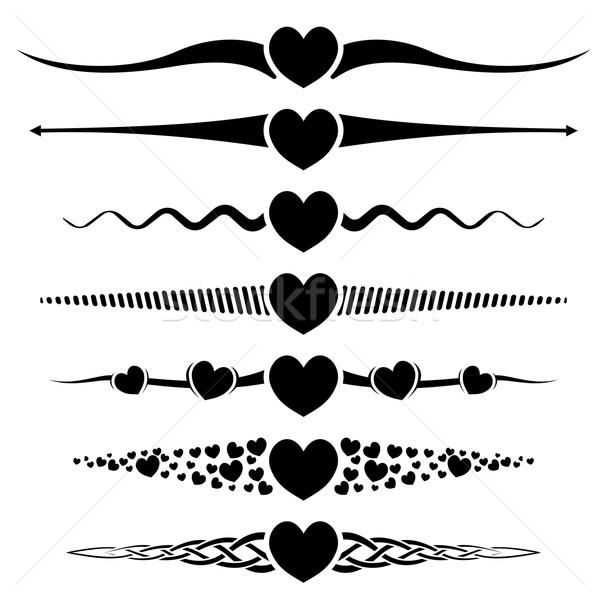 Valentine dia abstrato coração grupo Foto stock © zybr78