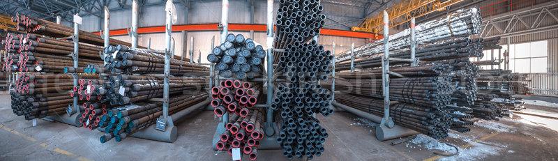 ストックフォト: 倉庫 · 管類 · 油 · ガス · 業界 · パノラマ