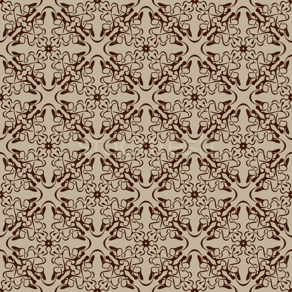 Barna végtelen minta egyszerű végtelenített tapéta minta Stock fotó © zybr78