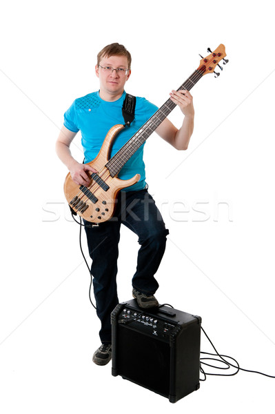 guitarist with electro guitar Stock photo © zybr78
