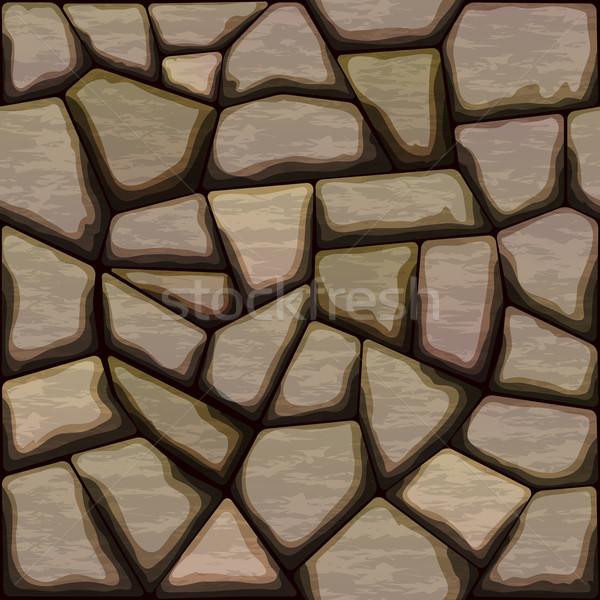 Kő végtelen minta barna természet terv otthon Stock fotó © zybr78