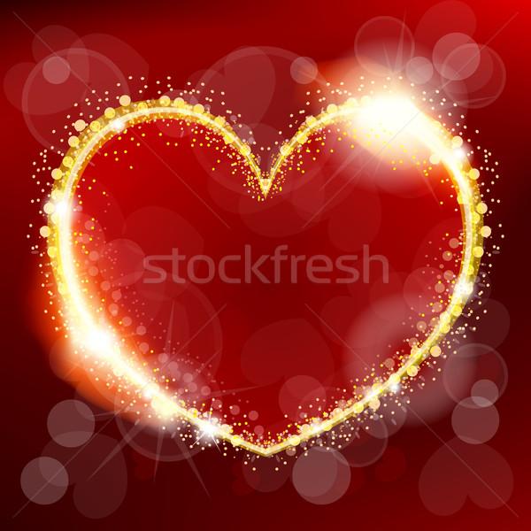 Absztrakt valentin nap szív Valentin nap nap esküvő Stock fotó © zybr78