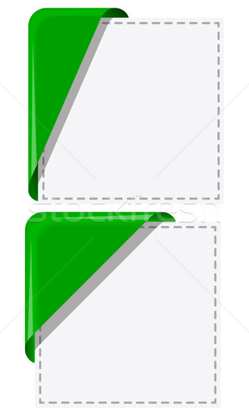 Canto conjunto verde fita enrolado Foto stock © zybr78
