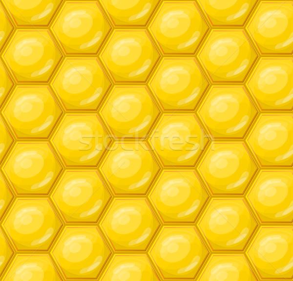 Plaster miodu tapety wzór bezszwowy żywności środowisk Zdjęcia stock © zybr78