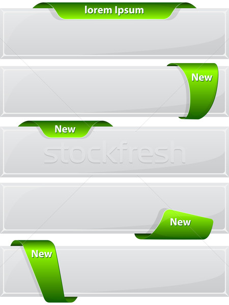 Web button with green ribbon Stock photo © zybr78