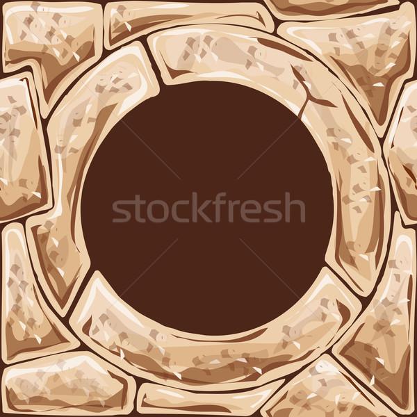 Quadro pedra construção fundo rocha Foto stock © zybr78