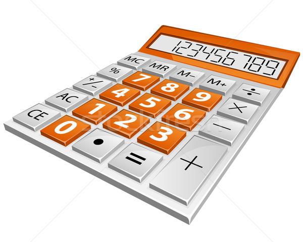 Számológép egyszerű izolált fehér asztal pénzügy Stock fotó © zybr78