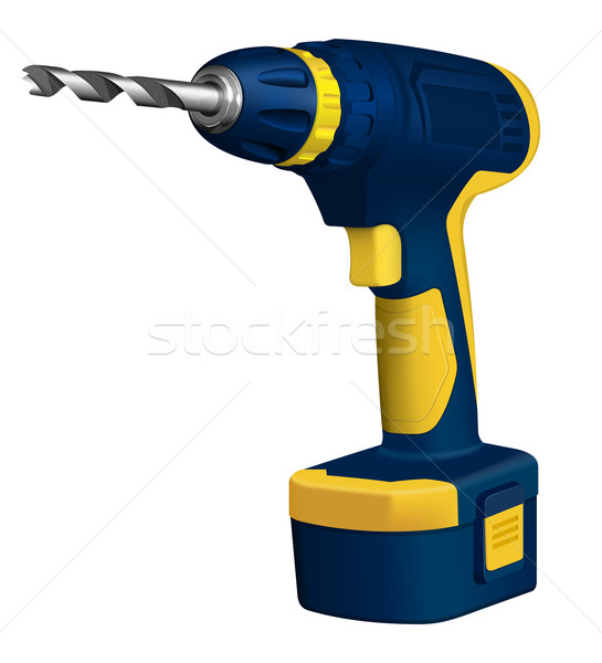 Realistic illustration of cordless drill Stock photo © zybr78