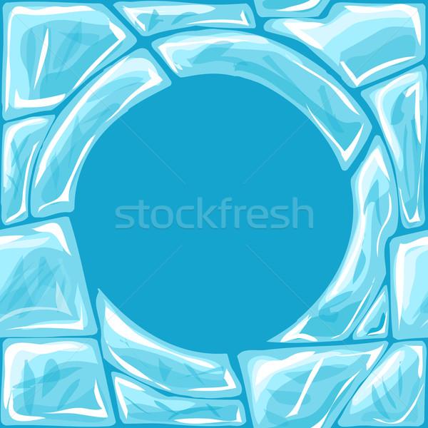 Keret jég végtelen minta tégla absztrakt háttér Stock fotó © zybr78