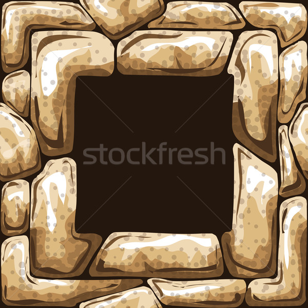 Tér keret kő végtelen minta építkezés absztrakt Stock fotó © zybr78