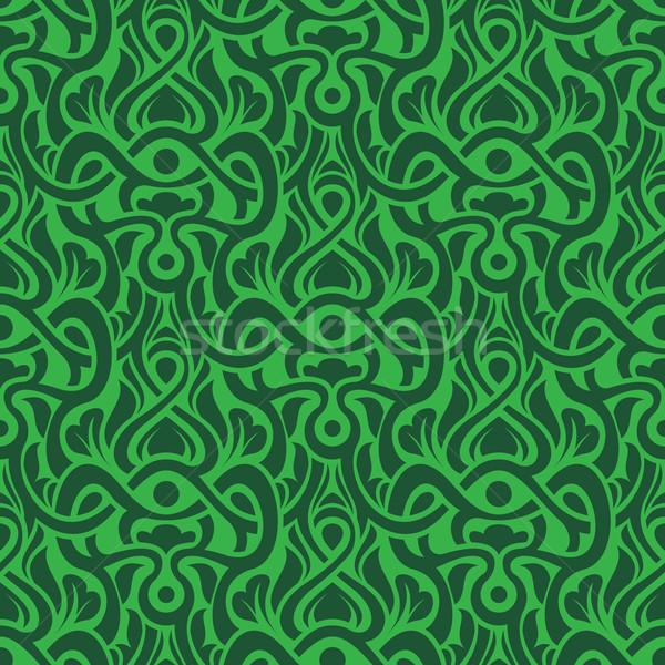 Verde floral sem costura papel de parede padrão Foto stock © zybr78