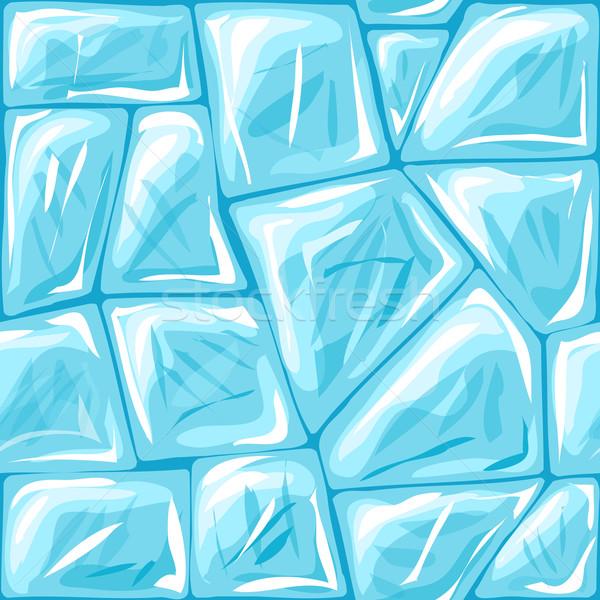 Ice seamless pattern Stock photo © zybr78