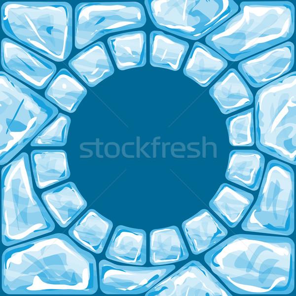 Quadro azul gelo tijolo fundo Foto stock © zybr78