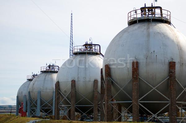 Gas olie-industrie afgewerkt goederen gebouw technologie Stockfoto © zybr78