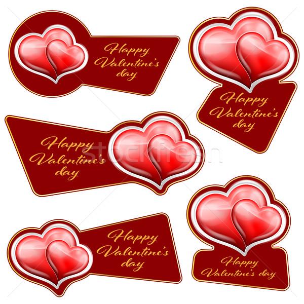 Venda adesivo corações coração valentine dia Foto stock © zybr78