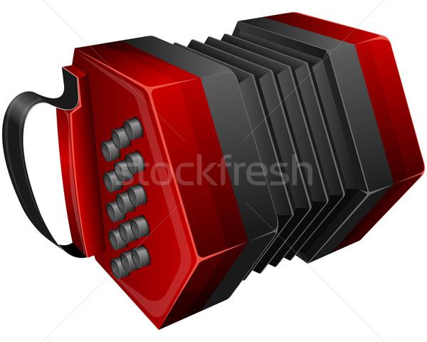 Piros izolált fehér zene kulcs hangszer Stock fotó © zybr78