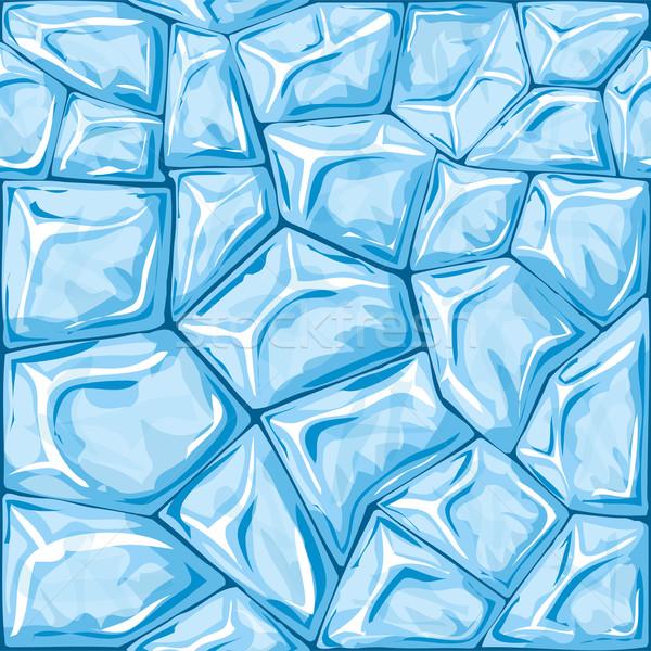 Blue ice seamless pattern Stock photo © zybr78