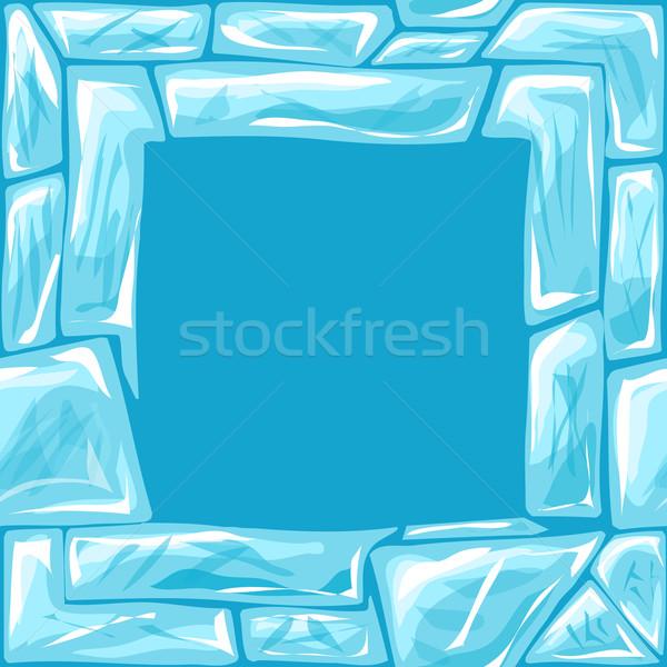 Piazza frame ghiaccio mattone abstract Foto d'archivio © zybr78