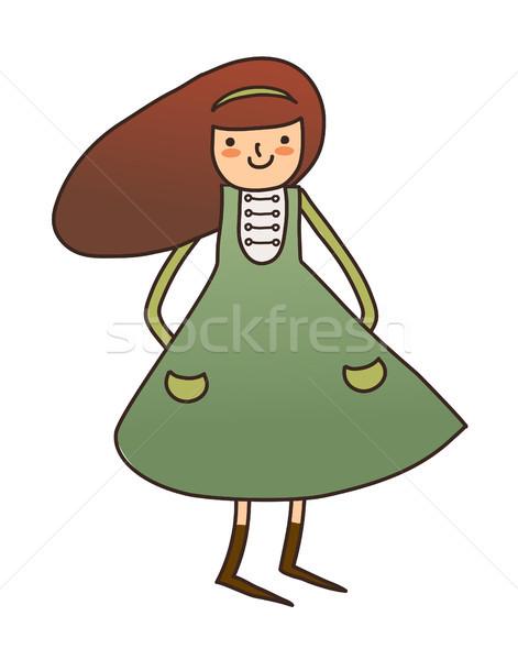 девушки Живопись рисунок улыбаясь Cartoon Сток-фото © zzve